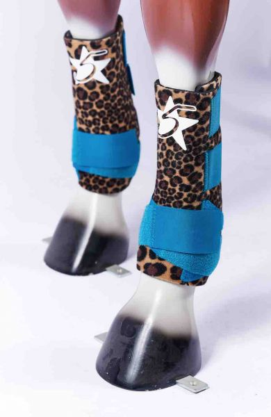 5 Star Boots - Cheetah Turquoise