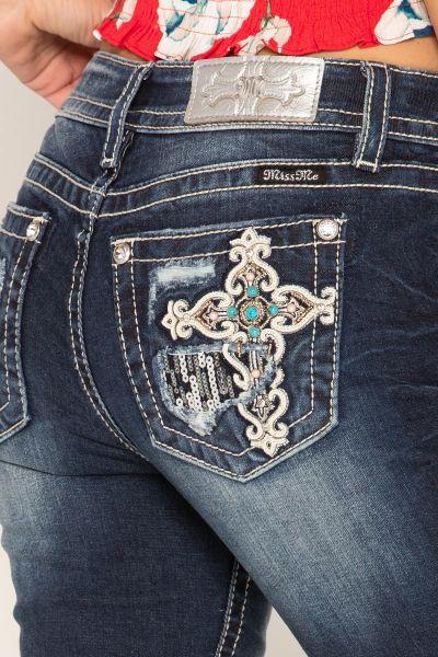 Miss Me Jeans Love & Hope Skinny
