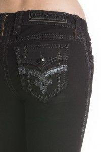 Rock Revival Damenjeans Silken Black