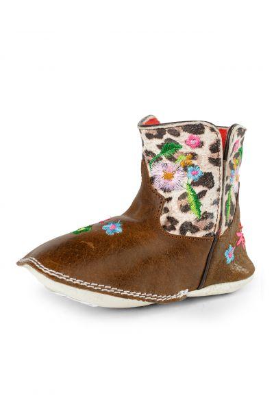 Macie Bean Baby Boots Snow Leopard