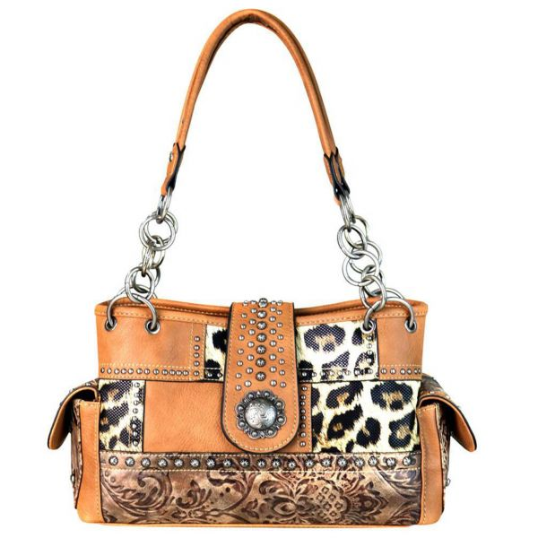Handbag Leo print Coffee