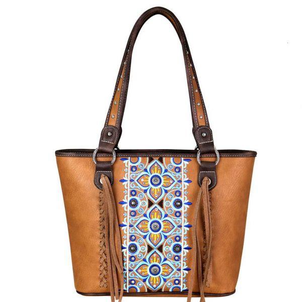 Handbag Greece Flower Cinnamon