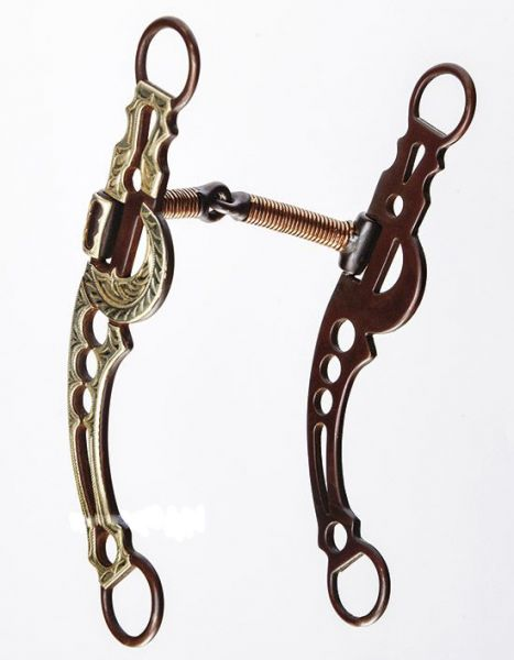 Antique Halfmoon Snaffle Bit with Long Shanks