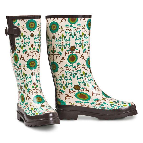 Rain Boots Damen Flower Power