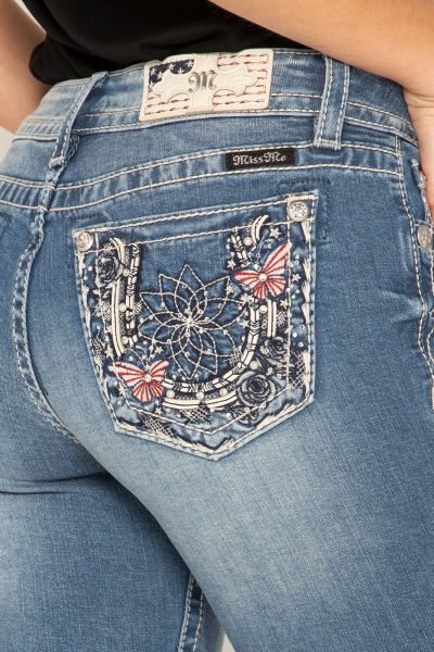 Miss Me Jeans Lucky Florals Skinny