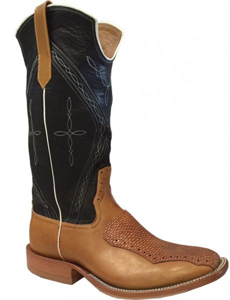 Rio's of Mercedes Herrenstiefel Calf Tan Vintage