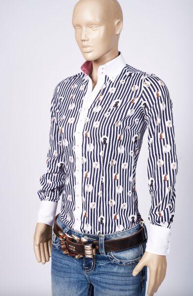Fior da Liso - Bluse Stella Dog Stripe