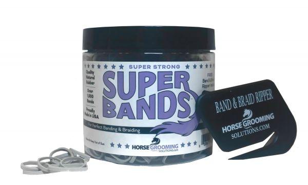 Super Bands Mähnengummis von Horse Grooming Solutions