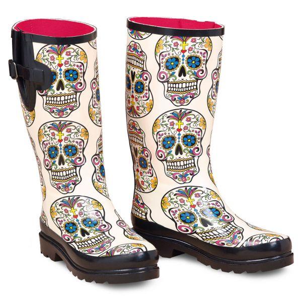 Rain Boots Damen Skull