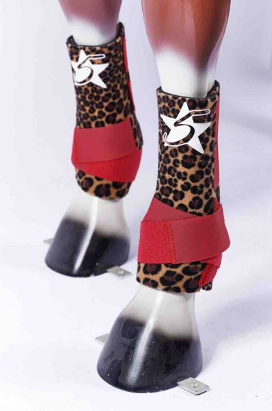 5 Star Boots - Cheetah Red Straps