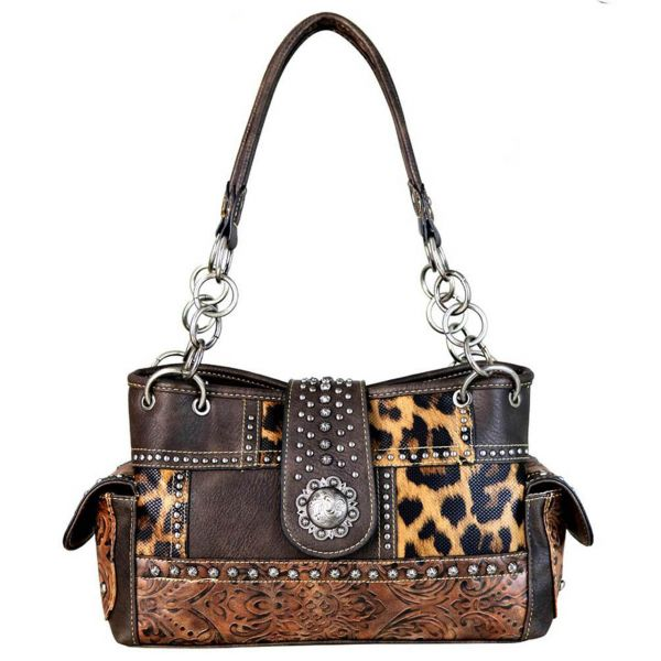 Handbag Leo print Chocolate