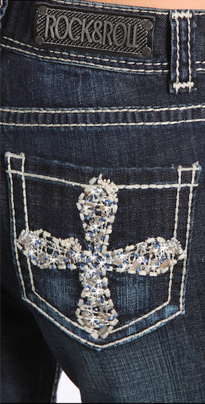 Rock & Roll Cross Mid Rise Bootcut